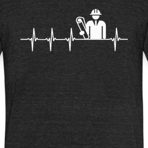 Architect Job Heartbeat Love - Unisex Tri-Blend T-Shirt by American Apparel