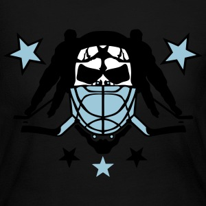 skull hockey player headphones lacrosse Long Sleeve Shirts - Women's Long Sleeve Jersey T-Shirt