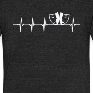 Actor Job Heartbeat Love - Unisex Tri-Blend T-Shirt by American Apparel