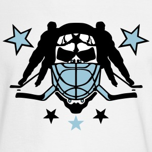 skull hockey player headphones lacrosse Long Sleeve Shirts - Men's Long Sleeve T-Shirt