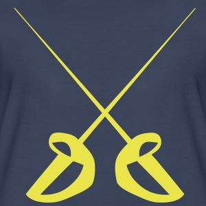 double cross sword sports 0 T-Shirts - Women's Premium T-Shirt