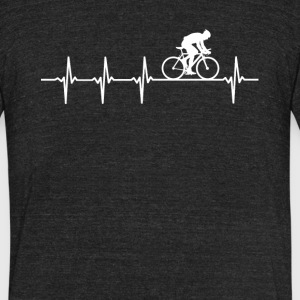 Bicycle Racing Sport Heartbeat Love - Unisex Tri-Blend T-Shirt by American Apparel
