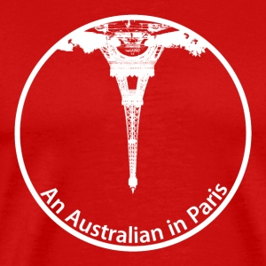 An Australian in Paris white version - Men's Premium T-Shirt