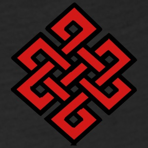 ENDLESS KNOT - Fitted Cotton/Poly T-Shirt by Next Level