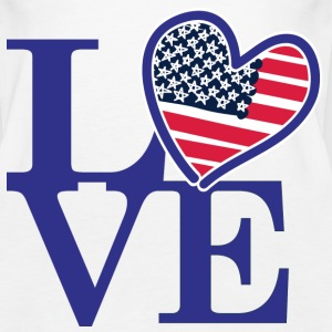 Love USA American Flag - Women's Premium Tank Top