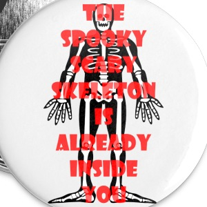 Spooky Scary Skeleton Small Button - Small Buttons