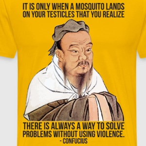 When A Mosquito Lands On Your Testicles T-Shirts - Men's Premium T-Shirt