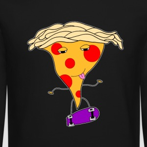 Pizza Skater Dude  Long Sleeve Shirts - Crewneck Sweatshirt
