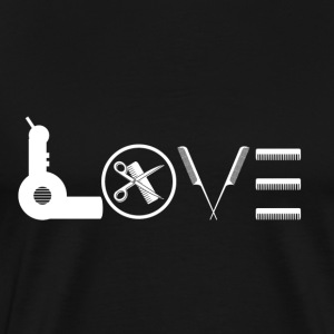 Love Hair Stylist Shirt - Men's Premium T-Shirt