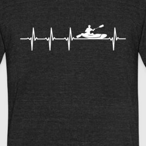 Kayaking Sport Heartbeat Love - Unisex Tri-Blend T-Shirt by American Apparel