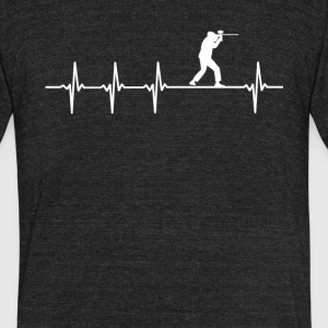 Paintball Sport Heartbeat Love - Unisex Tri-Blend T-Shirt by American Apparel