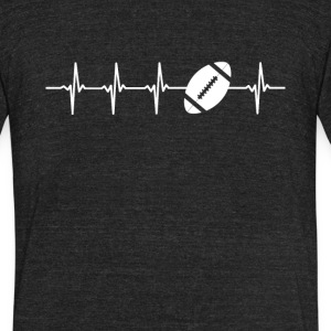 American Football Sport Heartbeat Love - Unisex Tri-Blend T-Shirt by American Apparel