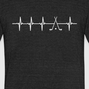 Golf Sport Heartbeat Love - Unisex Tri-Blend T-Shirt by American Apparel