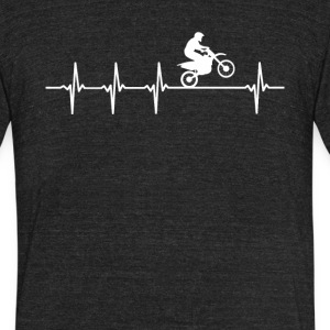 Motocross Racing Heartbeat Love - Unisex Tri-Blend T-Shirt by American Apparel