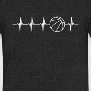 Basketball Sport Heartbeat Love - Unisex Tri-Blend T-Shirt by American Apparel