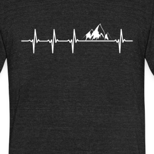 Mountain Climbing Heartbeat Love - Unisex Tri-Blend T-Shirt by American Apparel
