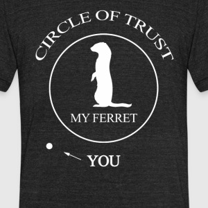 Funny Ferret Cute - Unisex Tri-Blend T-Shirt by American Apparel