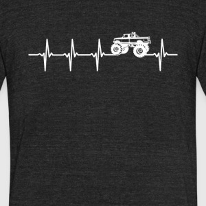 Monster Truck Sport Heartbeat Love - Unisex Tri-Blend T-Shirt by American Apparel