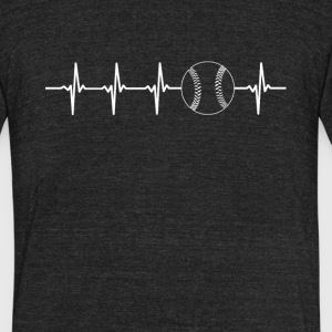 Baseball Sport Heartbeat Love - Unisex Tri-Blend T-Shirt by American Apparel