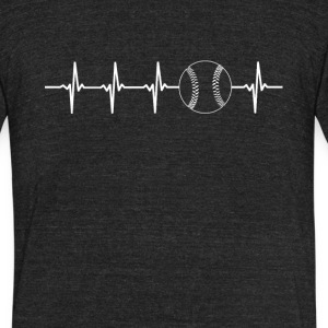 Baseball Sport Heartbeat Love - Unisex Tri-Blend T-Shirt