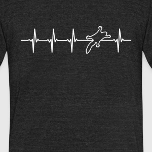 Sugar Glider Heartbeat Love - Unisex Tri-Blend T-Shirt by American Apparel