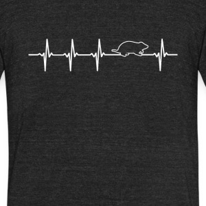 Hamster Heartbeat Love - Unisex Tri-Blend T-Shirt by American Apparel