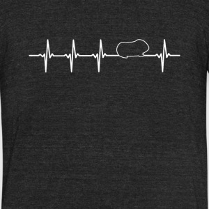 Guinea Pig Heartbeat Love - Unisex Tri-Blend T-Shirt by American Apparel