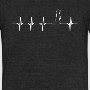 Ferret Heartbeat Love - Unisex Tri-Blend T-Shirt by American Apparel