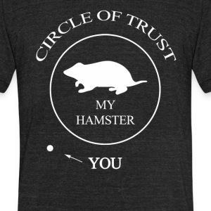 Funny Hamster - Unisex Tri-Blend T-Shirt by American Apparel