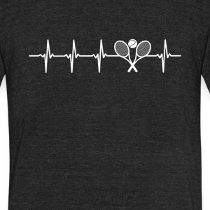 Tennis Sport Heartbeat Love - Unisex Tri-Blend T-Shirt by American Apparel