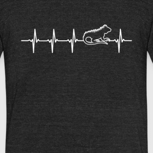 Iguana Heartbeat Love - Unisex Tri-Blend T-Shirt by American Apparel