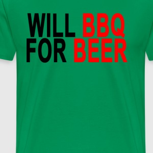 will_bbq_for_beer_ - Men's Premium T-Shirt