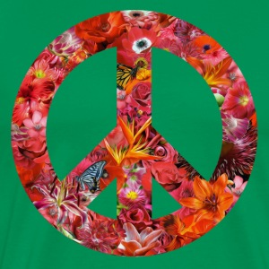 peace with flowers T-Shirts - Men's Premium T-Shirt