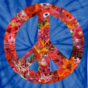 peace with flowers T-Shirts - Unisex Tie Dye T-Shirt