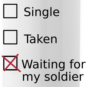 Single Taken Waiting For My Soldier Sportswear - Water Bottle