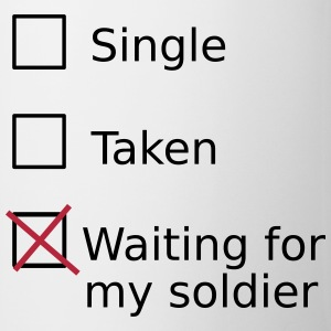 Single Taken Waiting For My Soldier Mugs & Drinkware - Coffee/Tea Mug