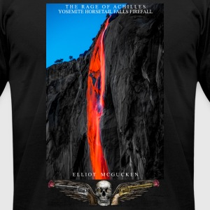 The Rage of Achilles Yosemite Firefalls Fine Art - Men's T-Shirt by American Apparel