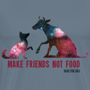 Make Friends Not Food #1 - Men's Premium T-Shirt