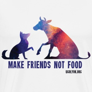 Make Friends Not Food #2 - Men's Premium T-Shirt