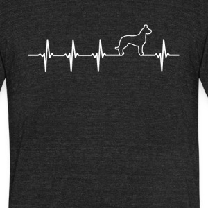 Great Dane Dog Heartbeat Love - Unisex Tri-Blend T-Shirt by American Apparel