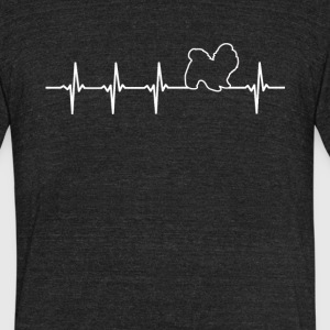 Shi Tzu Dog Heartbeat Love - Unisex Tri-Blend T-Shirt by American Apparel