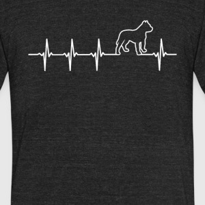 Pitbull Dog Heartbeat Love - Unisex Tri-Blend T-Shirt by American Apparel