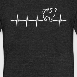 Chihuahua Dog Heartbeat Love - Unisex Tri-Blend T-Shirt by American Apparel