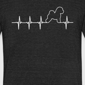 Bichon Dog Heartbeat Love - Unisex Tri-Blend T-Shirt by American Apparel