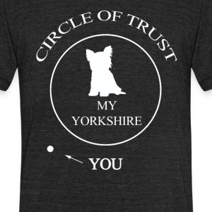Funny Yorkshire Dog - Unisex Tri-Blend T-Shirt