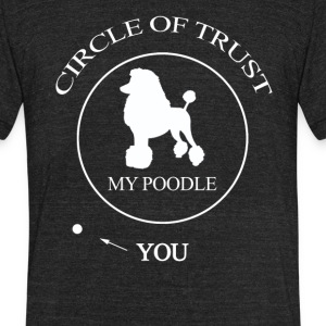 Funny Poodle Dog - Unisex Tri-Blend T-Shirt by American Apparel