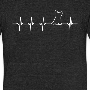 Yorkshire Dog Heartbeat Love - Unisex Tri-Blend T-Shirt by American Apparel