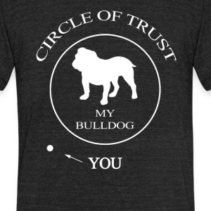 Funny Bulldog Dog - Unisex Tri-Blend T-Shirt by American Apparel