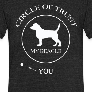Funny Beagle Dog - Unisex Tri-Blend T-Shirt by American Apparel