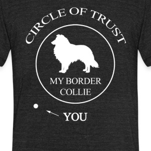 Funny Border Collie Dog - Unisex Tri-Blend T-Shirt by American Apparel